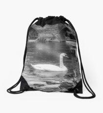 The Lonesome Swan Drawstring Bag