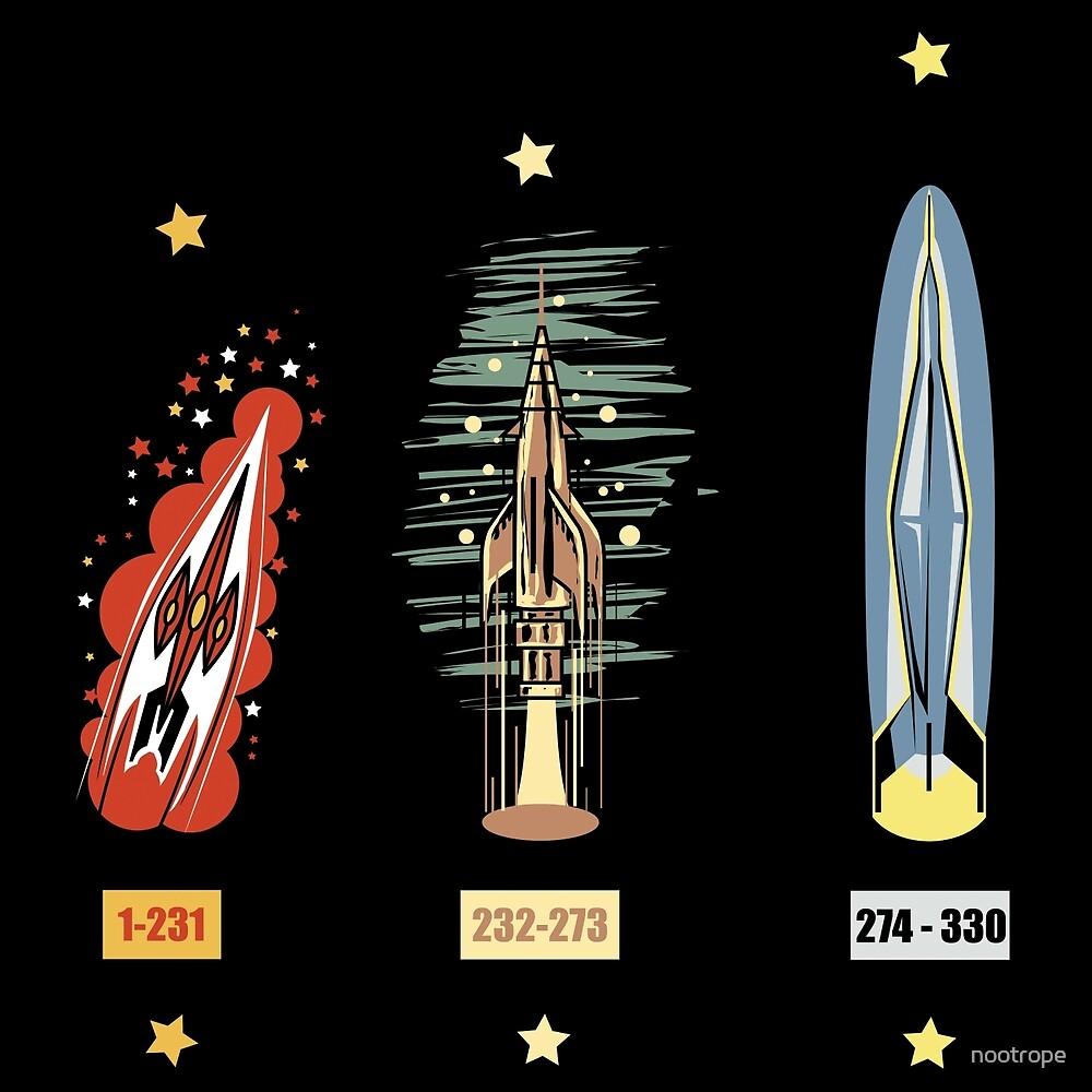 Fleuve Noir Rockets by nootrope