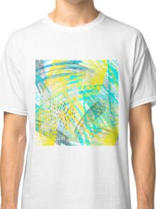 Abstract yellow green pattern Classic T-Shirt