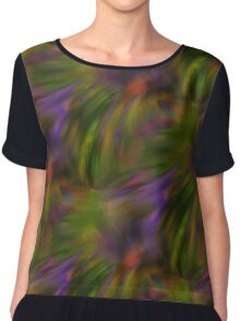 Abstract Colors Of Purple Green Yellow Women's Chiffon Top