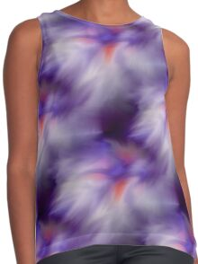 Blue Purple And White Abstract Colors Contrast Tank