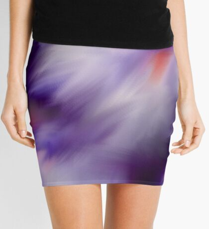 Blue Purple And White Abstract Colors Mini Skirt