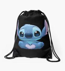 Stitch Heart Drawstring Bag