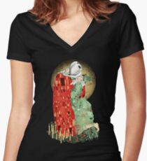 Camiseta entallada de cuello en V The Bloody Kiss