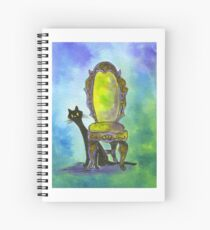 Cute Witch Cat Spiral Notebook