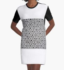 Random Holes Graphic T-Shirt Dress