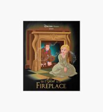 The Girl In The Fireplace Art Board