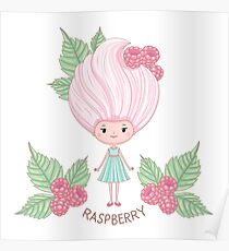 Raspberry ice cream girl Poster