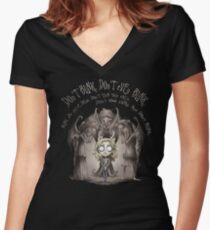 Do not Blink Women's Fitted V-Neck T-Shirt