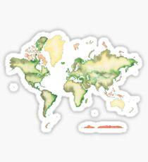 Old World Map in Ink Sticker