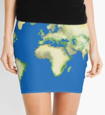 Old World Map in Ink Mini Skirt