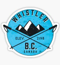 WHISTLER BRITISH COLUMBIA CANADA SKIING SNOWBOARDING MOUNTAINS SKI 5 Sticker