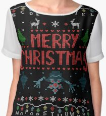 MERRY CHRISTMAS FROM THE UPSIDE DOWN! #2 Women's Chiffon Top