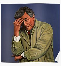 Peter Falk as Columbo Painting Poster