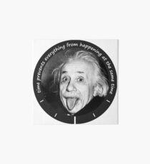 Einstein - Time Quote Art Board