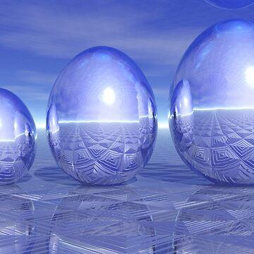 Shiny Metallic Eggs by quartzmonzonite
