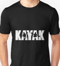Kayak Duo - White text T-Shirt