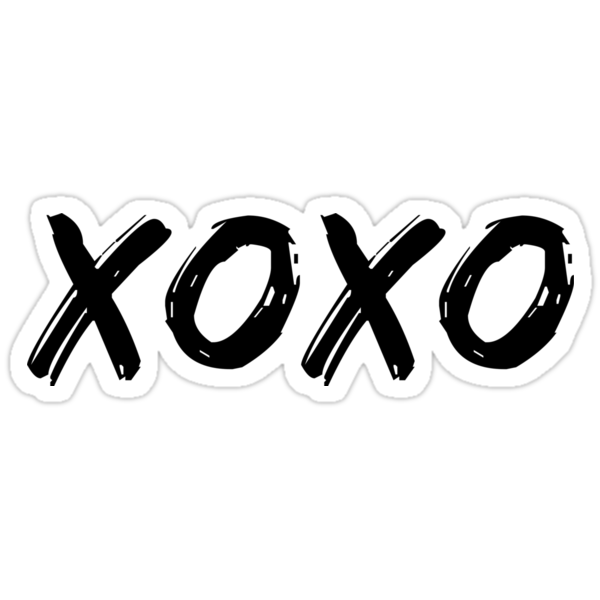 Quot Xoxo Quot Stickers By Mackenziemakes Redbubble