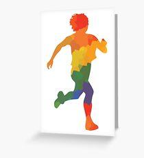 Farbiger Läufer Greeting Card
