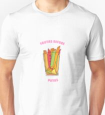 Frutas Before Putas- White Unisex T-Shirt