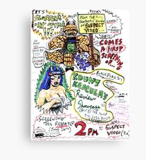 Kount Kracula's Review Showcase -TV Show Promo Poster #2 Canvas Print