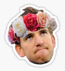 Flower Crown Eli Manning Sticker
