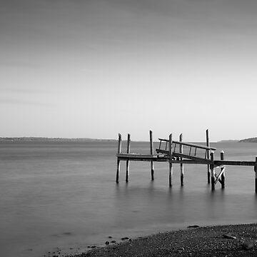 Dock Portsmouth RI I BW by davegordon