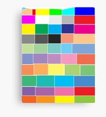 Game of colour blocks  Canvas Print