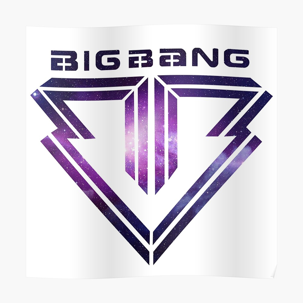 Big bang Logo Galaxy Poster