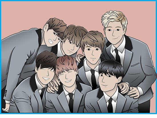 BTS Anime Posters By Claralil