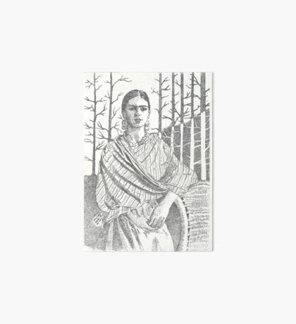 Frida Khalo and trees Art Board Print