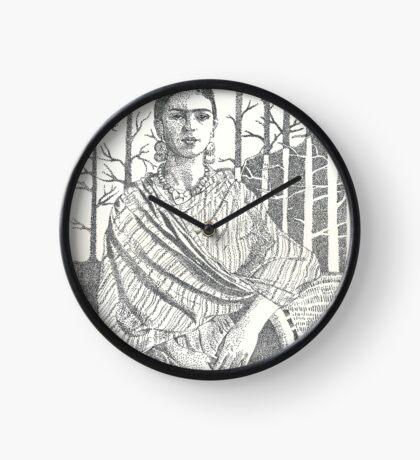 Frida Khalo and trees Clock