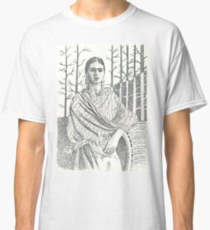 Frida Khalo and trees Classic T-Shirt
