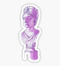 Purple Bust Sticker