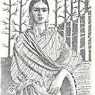 Frida Khalo and trees by tqueen