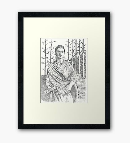 Frida Khalo and trees Framed Print