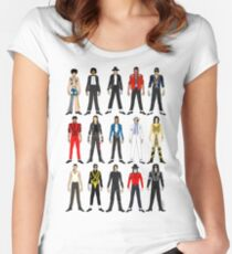 Outfits of King Jackson Pop Music Fashion Women's Fitted Scoop T-Shirt