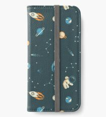 Lil Astronaut Pattern iPhone Wallet/Case/Skin