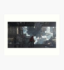 Doctor Strange Warped City Art Print