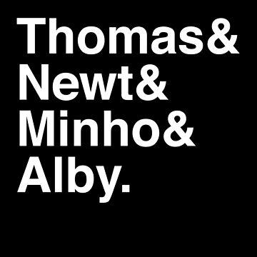 Thomas & Newt & Minho & Alby. (inverse) by Kitmagic