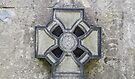 Cross in graveyard, Edinburgh, Scotland by Beth A.  Richardson