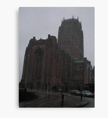 Snowy Cathedral Canvas Print
