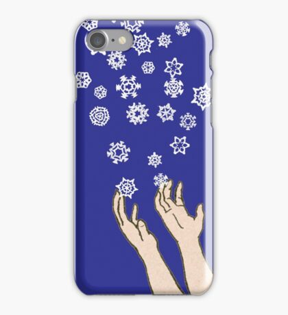 First Snow Night Snowflakes iPhone Case/Skin