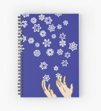 First Snow Night Snowflakes Spiral Notebook