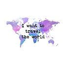 «I want to travel the world» de imaginadesigns