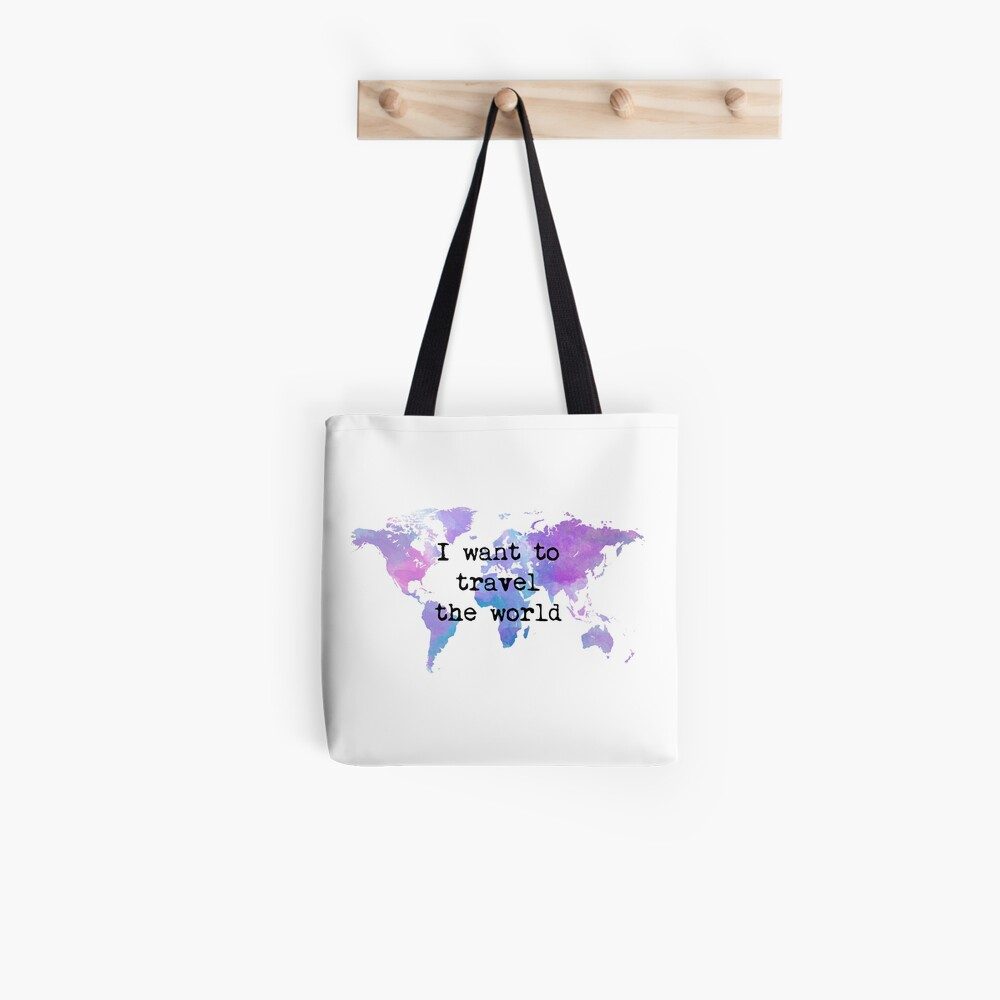 I want to travel the world Bolsa de tela