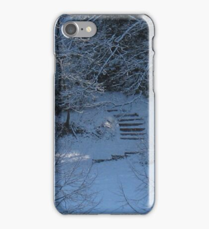 Cutting through the snow iPhone Case/Skin