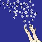 First Snow Night Snowflakes by SusanSanford