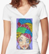 Baduizm Women's Fitted V-Neck T-Shirt