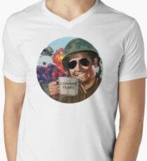 Commie Tränen T-Shirt mit V-Ausschnitt für Männer